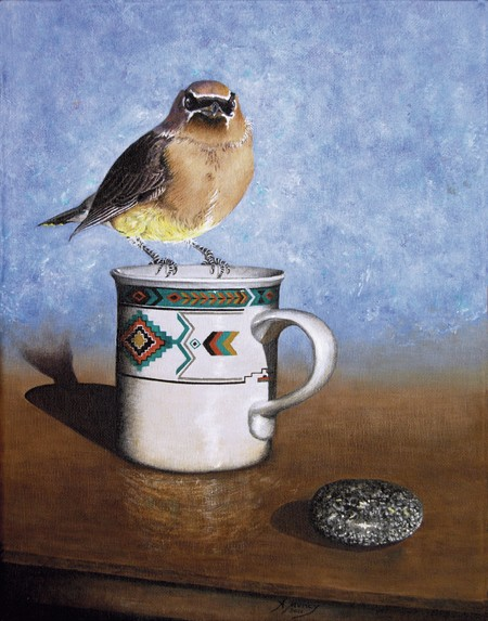 Coffee with a Waxwing